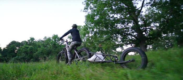 Aanhanger elektrische fiets luchtvering