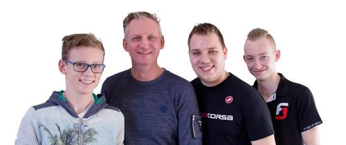 Het Team van Fietsen van Stenis
