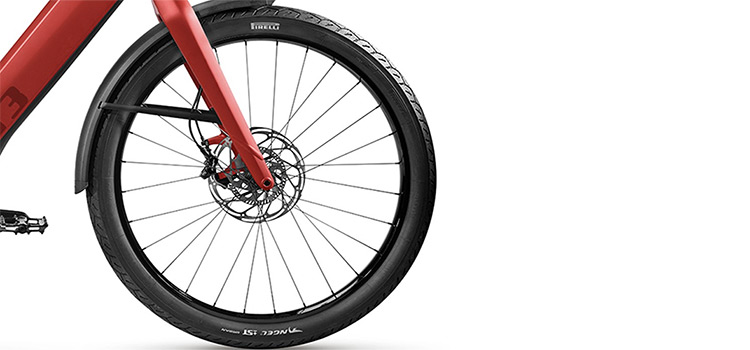 Stromer ST3 Pinion riemaandrijving rood ABS